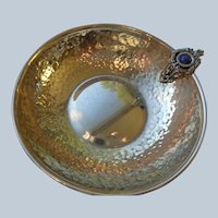 Further Price Reduction Stunning Sterling Wine Taster with Lapis Handle