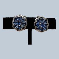 Kyanite/Sapphire Stone Earrings in Sterling Silver, Pierced