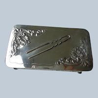 Heavy Silver Pin/What/Not Dish Pairpoint 1900