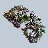 50% OFF Designer Cuff Bracelet of Dragon w/Stones by Heidi Daus