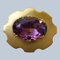 Amethyst and Gold Pin/Brooch 1930