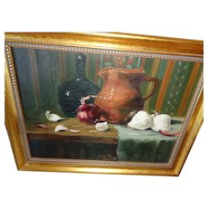 Lovely Still Life Oil Painting American Artist Signed