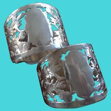 Pair English Sterling Napkin Rings 1908