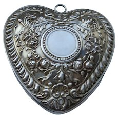 Sterling Heart Ornament, Gorham, No Inscription