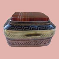 Artistic Double Agate Box w/Brass and Copper
