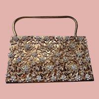 Minaudiere Clutch Bag with Rhinestones 1930  SALE