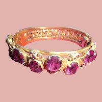 Stunning Antique Bangle Bracelet with Amethysts