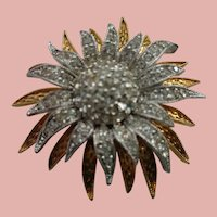 Designer Vintage Starburst Pin/Brooch D'Orlan 1960