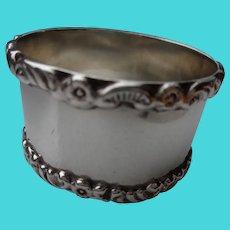 Antique Napkin Ring English Sterling 1909