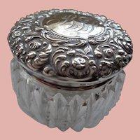 Unger Bros. Dresser Jar-Cut Crystal and Sterling 1900
