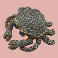 Swarovski Crystal Crab Pin/Brooch