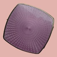 Double Sided Compact with Guilloche Enamel in Lavender
