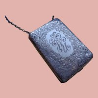 Art Deco Sterling Purse with Handle 1920