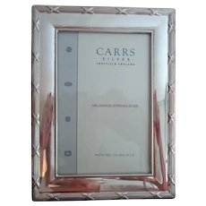 Sterling Silver Frame by Carr of England 4 by 6 inches