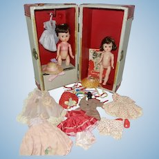 1950's Ginger Dolls in Original Trunk with Tagged Clothes