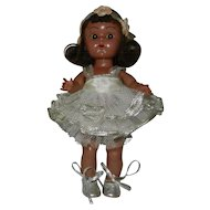 Rare 1954 Black (AA) Vogue PLW Ginny Doll in #45 Ballet Outfit