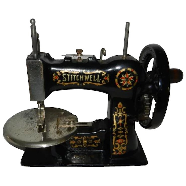 40's Stitchwell Cast Iron Toy Sewing Machine Red Door Antiques Mesmerizing 1920 Sewing Machine
