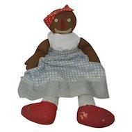 "Fantastic Handmade Vintage 1940's 19"" Raggedy Ann's Beloved Belindy Doll"
