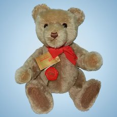 """Fabulous 1980's Hermann """"Yes-No"""" Mechanical Mohair Original Teddy Bear with Tags"""