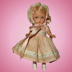"Wonderful 1950's 4 1/2"" Nancy Ann StoryBook Doll #71 ""First Birthday"""