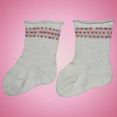 Vintage Cotton Doll Socks