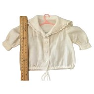 Vintage Doll Blouse in White Dimity Cotton