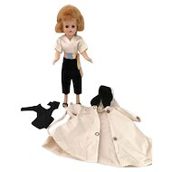 "Vogue Blonde Jill Doll Dressed in #3111 ""Hostess with the Mostest"" and Raincoat & Leotard"