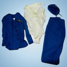 1961 Mattel Barbie #984 American Airlines Stewardess Outfit Parts