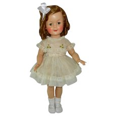 """1950's 19"""" Ideal Shirley Temple Doll in Tagged Dress"""