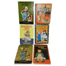 Lot of 6 Vintage and Newer Johnny Gruelle Raggedy Ann and Andy Books