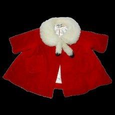 1960's Mattel Chatty Cathy Red Velvet Coat