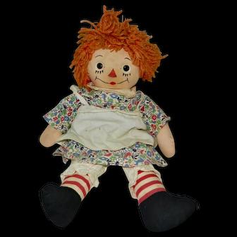 """1946 15"""" Georgene Silsby Raggedy Ann Doll"""