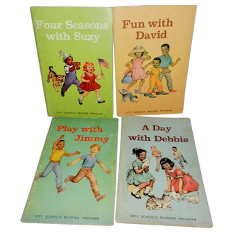 Rare Early Readers Featuring African-American/White Children and their Families