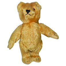 """Fantastic 9"""" Gold Steiff Teddy Bear with Tag and RS Button"""