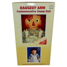 NRFB 1997 Applause Raggedy Ann Commemorative Stamp Doll