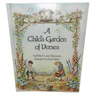 Tasha Tudor Illustrated Child's Garden of Verses Book 1st Edition