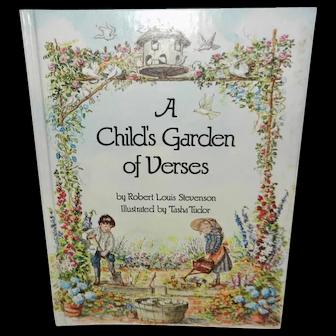 Tasha Tudor Illustrated Child's Garden of Verses Book 1st Edition