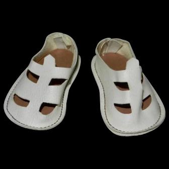 1960's Mattel Chatty Cathy White Sandals