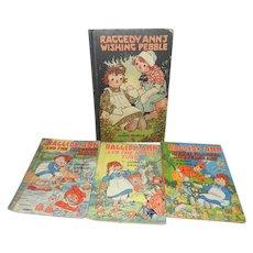 Four Vintage 1940's Johnny Gruelle Raggedy Ann Story Books
