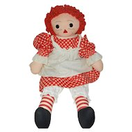 "20"" Lovely Handmade Cloth Raggedy Ann Doll"
