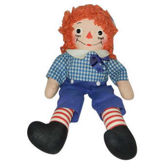 "Fantastic 15"" 1950's Georgene Novelties Raggedy Andy Doll"