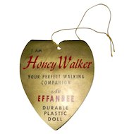 Effanbee Honey Walker Doll Wrist Hang Tag with 5 Pink Curlers