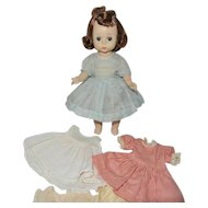 """1950's Madame Alexander 8"""" Bent Knee Walker Wendy with Rolled """"Special Hairdo"""""""