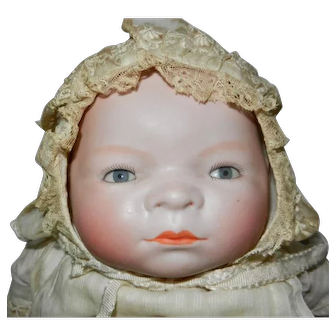 1920's Grace S. Putnam Bye-Lo Bisque Baby Doll with Signed Body