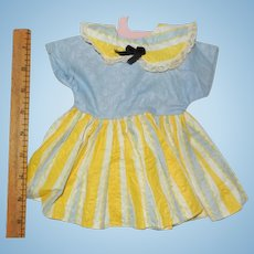 "Vintage 1950's Cotton Dress for your 16""-18"" Hard Plastic Doll"