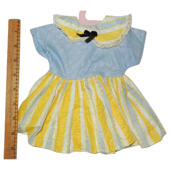 """Vintage 1950's Cotton Dress for your 16""""-18"""" Hard Plastic Doll"""