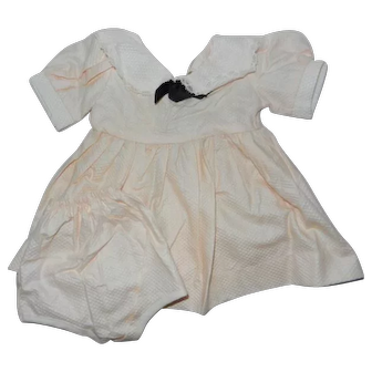 """Vintage 1950's Pink Waffle Cotton Dress/Panties to Fit a 16"""" Doll"""