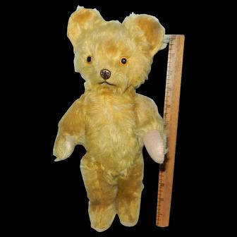 "1930's 12"" Knickerbocker Teddy Bear with Metal Nose"