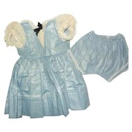 """1950's Polished Cotton Dress and Panties for a 16-17"""" Doll"""