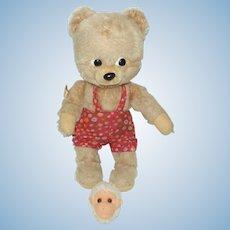 1960's Very Cute Schuco Bigo Bello Bear & Monkey Head